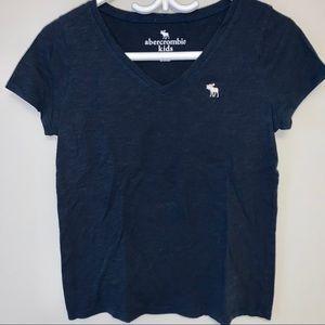   Abercrombie Kids  girls v-neck T shirt